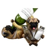 "Atlantic Collectibles Adorable Canine Pug Dog 10.75"" Tall Wine Bottle An... - $39.55"