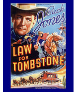 "11x14"" Cotton Canvas Print, Buck Jones, Law for Tombstone, Movie, Advert... - $23.99"