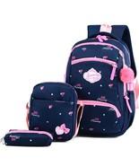 New 3 Sets Kids Schoolbag Fashion Cute Girls Backpacks(6) - $24.93