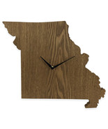 Missouri State Shaped Wood Grain Wall Clock Collection - $19.99
