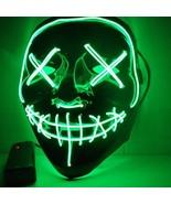 Halloween Mask LED Light Up Masks Grimace The Purge Election Year Great ... - $12.95