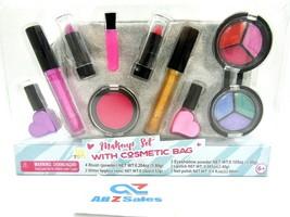 IQ Toys Kids Makeup Kit Set Cute With Glitter Cosmetics Bag Washable Pla... - $19.75