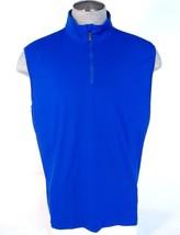 Polo Golf Ralph Lauren Blue 1/4 Zip Sleeveless Shirt Golf Vest Men's NWT - $86.24
