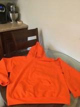 NWOT Men's Gildan Orange Blank Hoodie Sweatshirt Large New Without Tags - $16.82