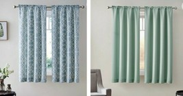 "Mainstays Bennett Textured Curtain 40""x63"" Set of (2) Blue Curve Trellis/Aquifer - $19.99"