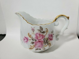 Lefton China Moss Rose 3167 Pattern Replacement Creamer Pink Rose Gold Trim - $14.84
