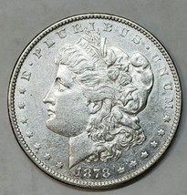 1878 7tf Rev 78 $1 Morgan Silver Dollar Coin Lot # E 102