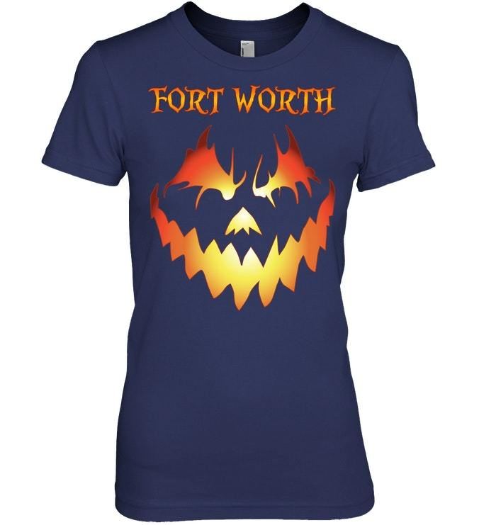 Fort Worth Jack O Lantern Halloween Costume Tshirt