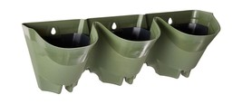 Worth Garden 3-Pack Olive Green Self-Watering Vertical Garden Wall Planters - $51.37 CAD