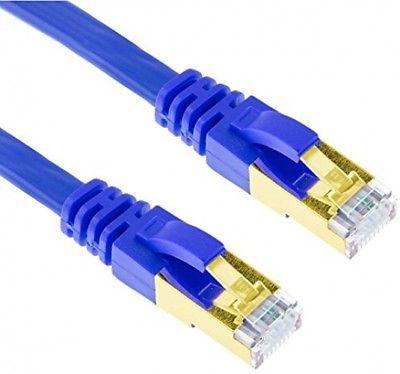 50FT U/FTP CAT 7 Gold Plated Shielded Ethernet RJ45 Cable 10 Gigabit Ethernet