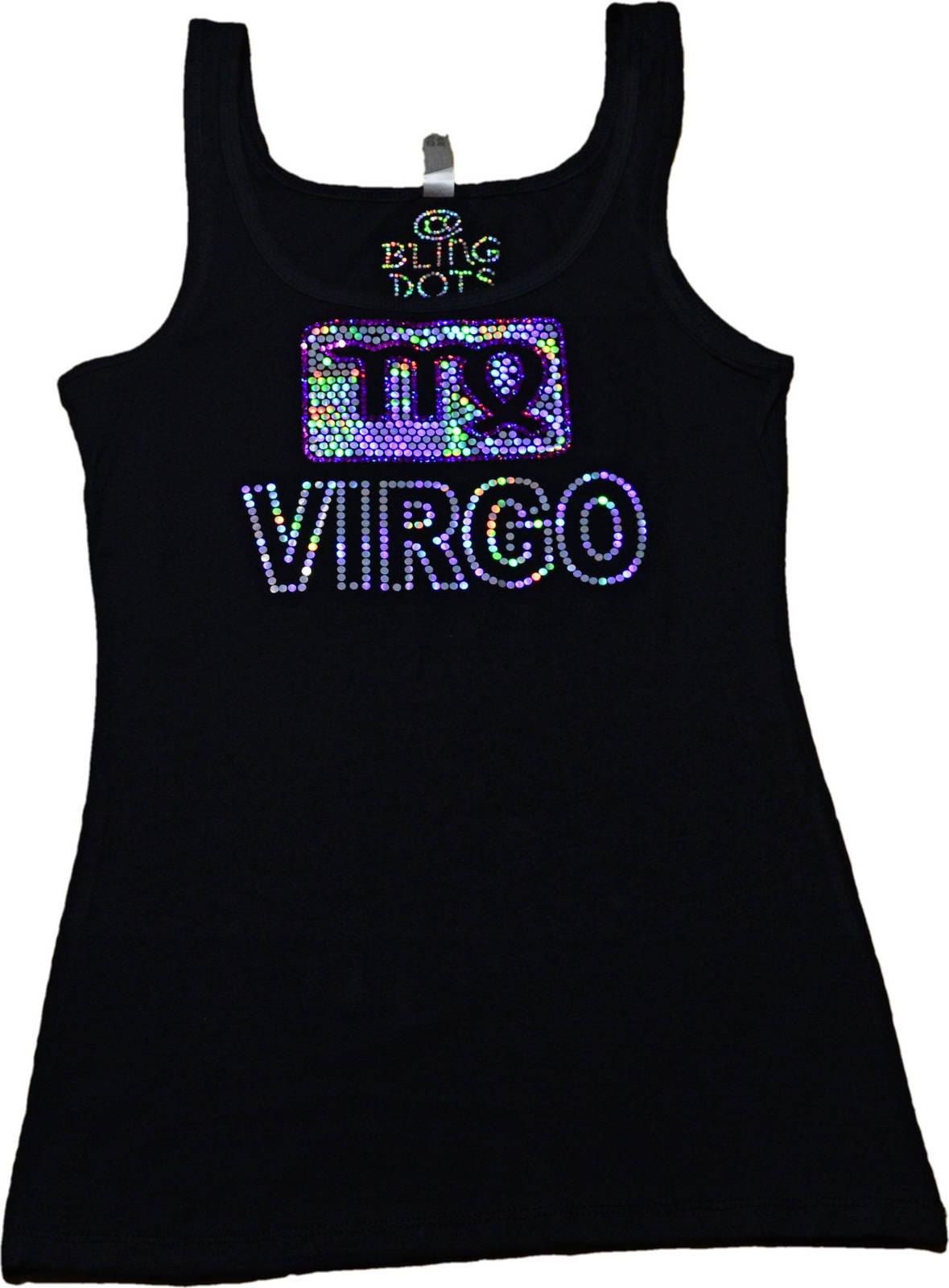 Virgo Bling Shirt Sequins Tank top Zodiac signs no rhinestones glitter tee