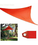 NEW Coolaroo 10-ft Red Shade Sail Triangle Party Patio Yard Deck Outdoor... - $9.89