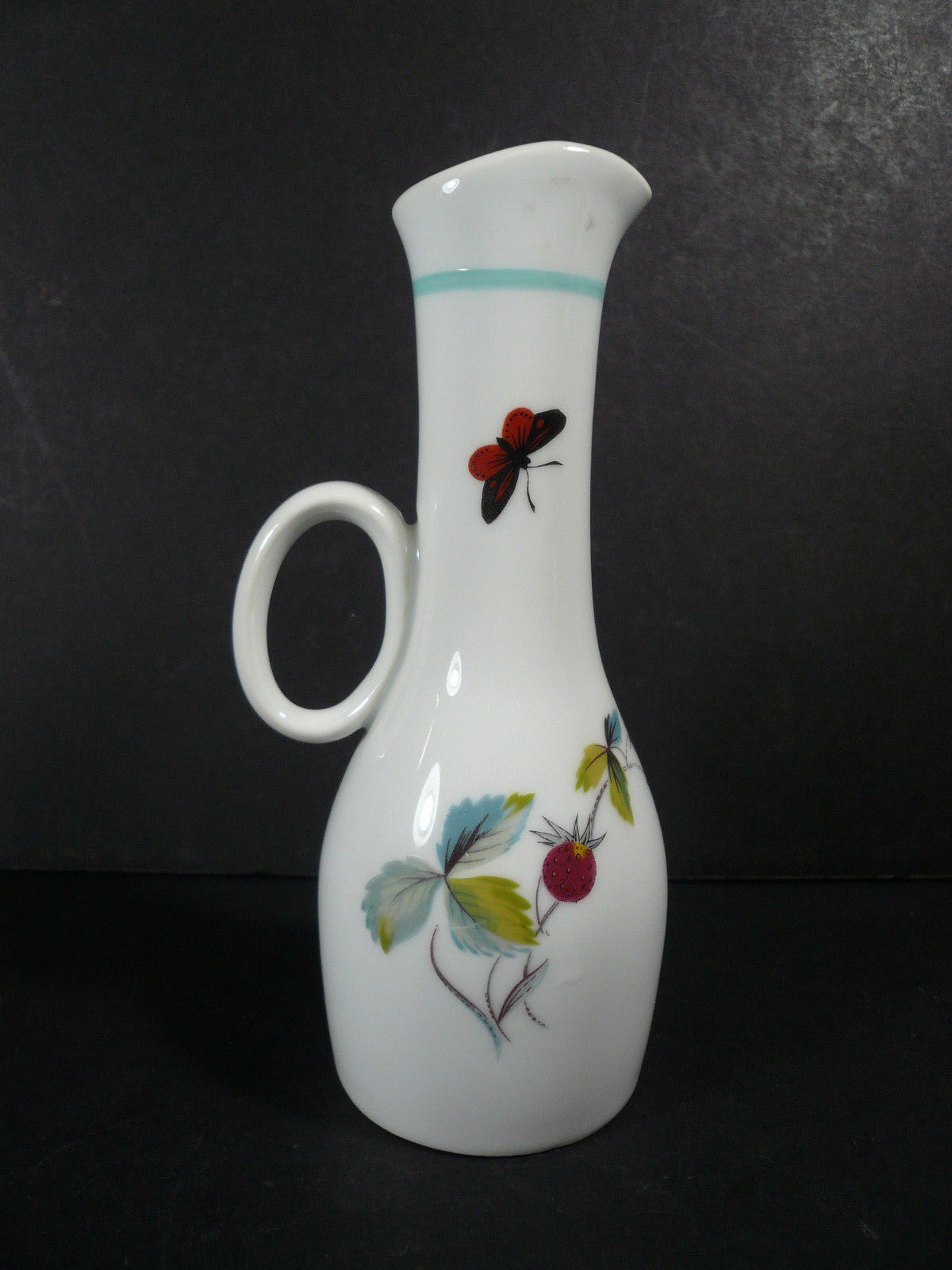 Royal Worcester Strawberry Fair Oil / Vinegar Cruet Bottle Jug - No Stopper
