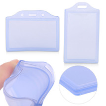 10 Clear Plastic Business ID Card Badge Pocket Pouch Holder School Offic... - $33.40
