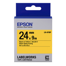 24mm Black on Yellow - Epson LABELWORKS LK-6YBP Tape Cartridges (Pack of 3) - $74.99