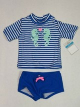 Carter's 24 Months Bathing Suit UPF 50+ Seahorse with Glitter - $15.00