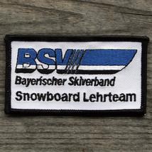 BSV SNOWBOARD Lehrteam Bayerischer Skiverband Patch Bavarian Ski Associa... - $12.55