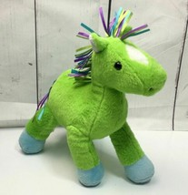 "Animal Adventure GREEN HORSE Pony Ribbon Mane Tail 10"" Plush 2013 Baby ... - $17.77"