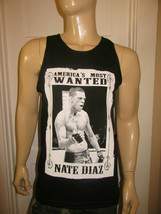 Nate Diaz America's Most Wanted Black Tank Top - AAA - MMA Its On California - $17.99+