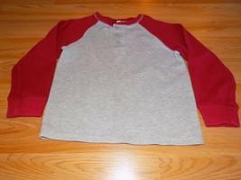 Size Small 6-7 Cherokee Gray Grey Burgundy Red Long Sleeve Shirt Top EUC - $10.00