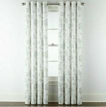 (1) JC Penney JCP Quinn Jacobean Lavender Multi Grommet Curtain Panel 50... - $56.09