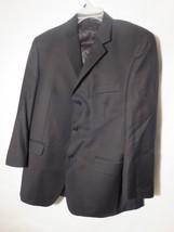 Calvin Klein Men's Size 42S Black Sport Coat / Blazer 100% Wool Excellent Cond. - $15.79