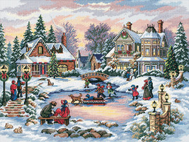"""Dimensions Gold Collection Counted Cross Stitch Kit 16""""X12""""-A Treasured Time - $37.53"""