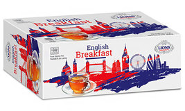Lions Tea English Breakfast, Pure Ceylon Black Tea, 100 Tea Bags - $13.99