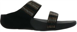 FitFlop Flare Strobe Slide Sandal BLACK 9M NEW 655-694 - $100.96