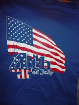 4th of July  American Flag BlueT-Shirt Size Med - $14.00