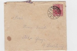 GERMAN 1921 GERMANIA STAMP CLENZE CANCEL , ENTIRE LETTER WITH CONTENTS - $11.88