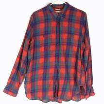 Denim & Supply RALPH LAUREN Utility Plaid Shirt XL Button Front Cotton R... - $32.99