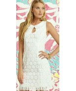 Lilly Pulitzer Nicci Organza Pinwheel Pearlescent Embroidery White Sheat... - $123.25