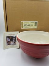 Longaberger Woven Traditions Small Tip & Mix Serving Mixing Bowl Tomato - $38.11