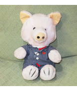 Vintage Executive Pig INTERPUR Pin Striped Suit Tie 1985 Plush Stuffed 1... - $16.35