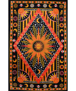 Twin Size Red Galaxy Tapestry Hippie Mandala Bohemian Bedspread Beach Bl... - $21.98