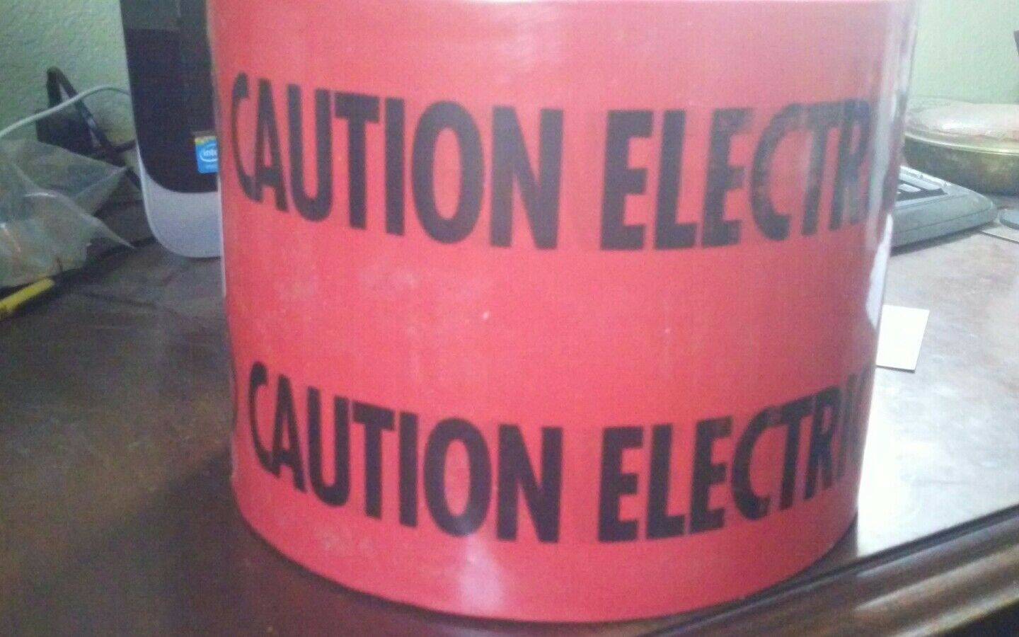 "CAUTION ELECTRIC LINE BELOW TAPES 1 ROLL 6"".. EMPIRE LEVEL 1000 feet 22-130"