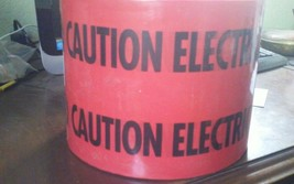 "CAUTION ELECTRIC LINE BELOW TAPES 1 ROLL 6"".. EMPIRE LEVEL 1000 feet 22-130 image 1"