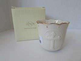 "LENOX BONE CHINA CROSS VOTIVE RELIGIOUS 3.25"" #828709 BOXED L2 - $5.89"