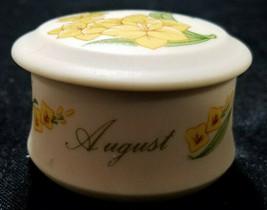"Vintage Lefton China ""August"" TRINKET/ Ring Dish - $9.00"