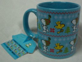 PEANUTS SNOOPY WOODSTOCK A Charlie Brown CHRISTMAS CERAMIC MUG NEW - $16.34