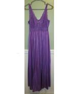 Shadowline Lingerie Small VTG Small Purple Womens Lace - $9.89