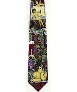Wine Music Men's Neck Tie Ralph Marlin Grape Vines Casks Silk Red Necktie - $27.67