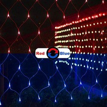 ALION HOME Net Mesh 2-in-1 Dual Color 256-Count LED Bush Wrap Lights with 9 Func