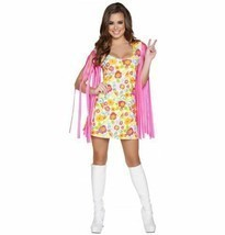 Woman's Wild Woodstock Babe Halloween Costume Roma #4639 Multi Color Siz... - $13.55