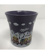 Milka Swiss Chocolate WEIHNACHTSBECHER No. 4 Purple Coffee Cup Mug - $29.99