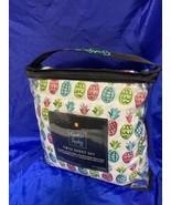 CYNTHIA ROWLEY PINK BLUE GREEN PASTEL PINEAPPLES TWIN DEEP SHEET SET GIR... - $32.71