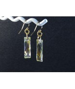 Swarovski Crystal Clear AB Earrings w/ 14k Gold Filled / USA /Dangle - $29.95+