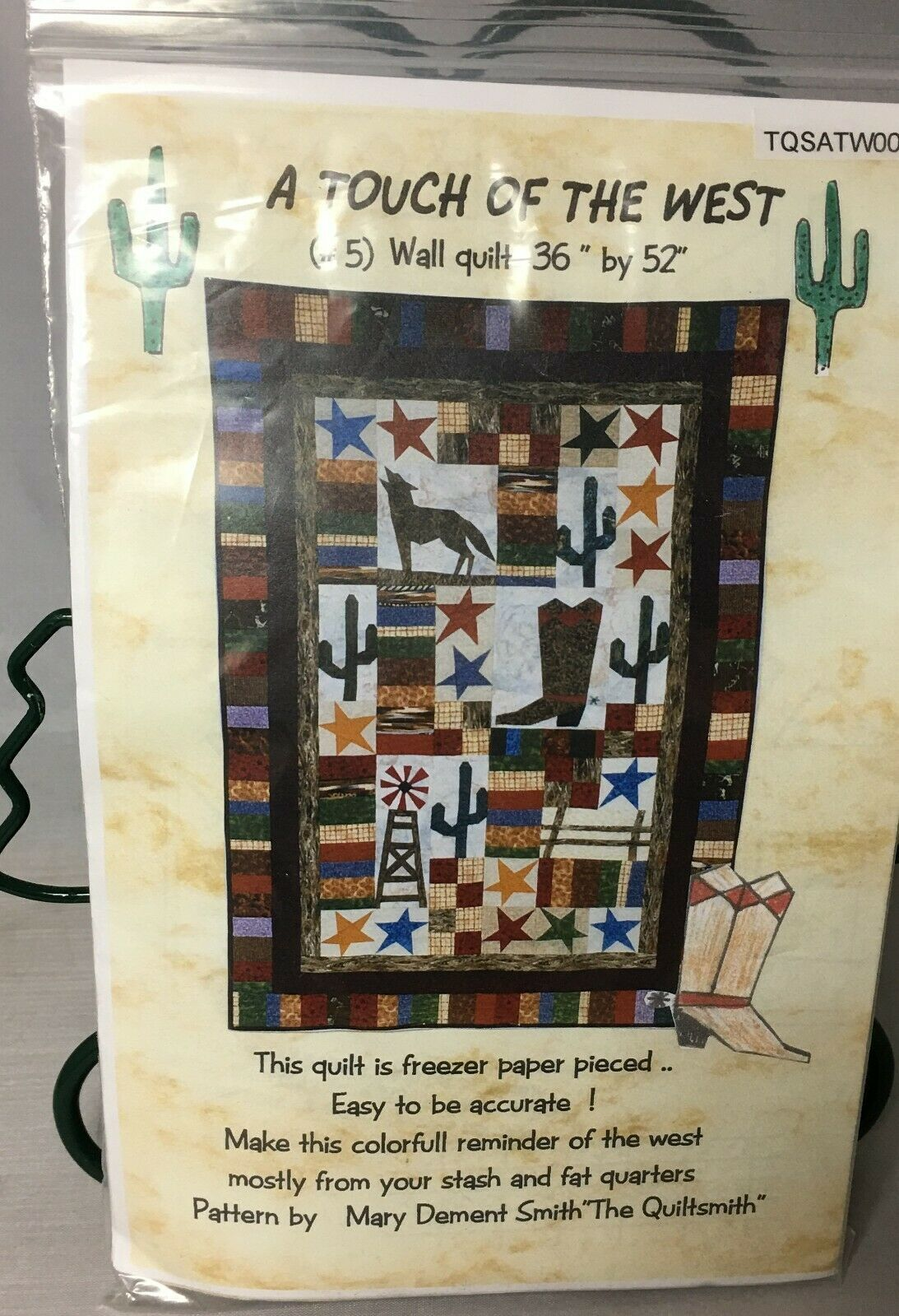 """A Touch of the West Wall Quilt Kit by Mary Dement Smith 36"""" by 52"""" - $8.81"""