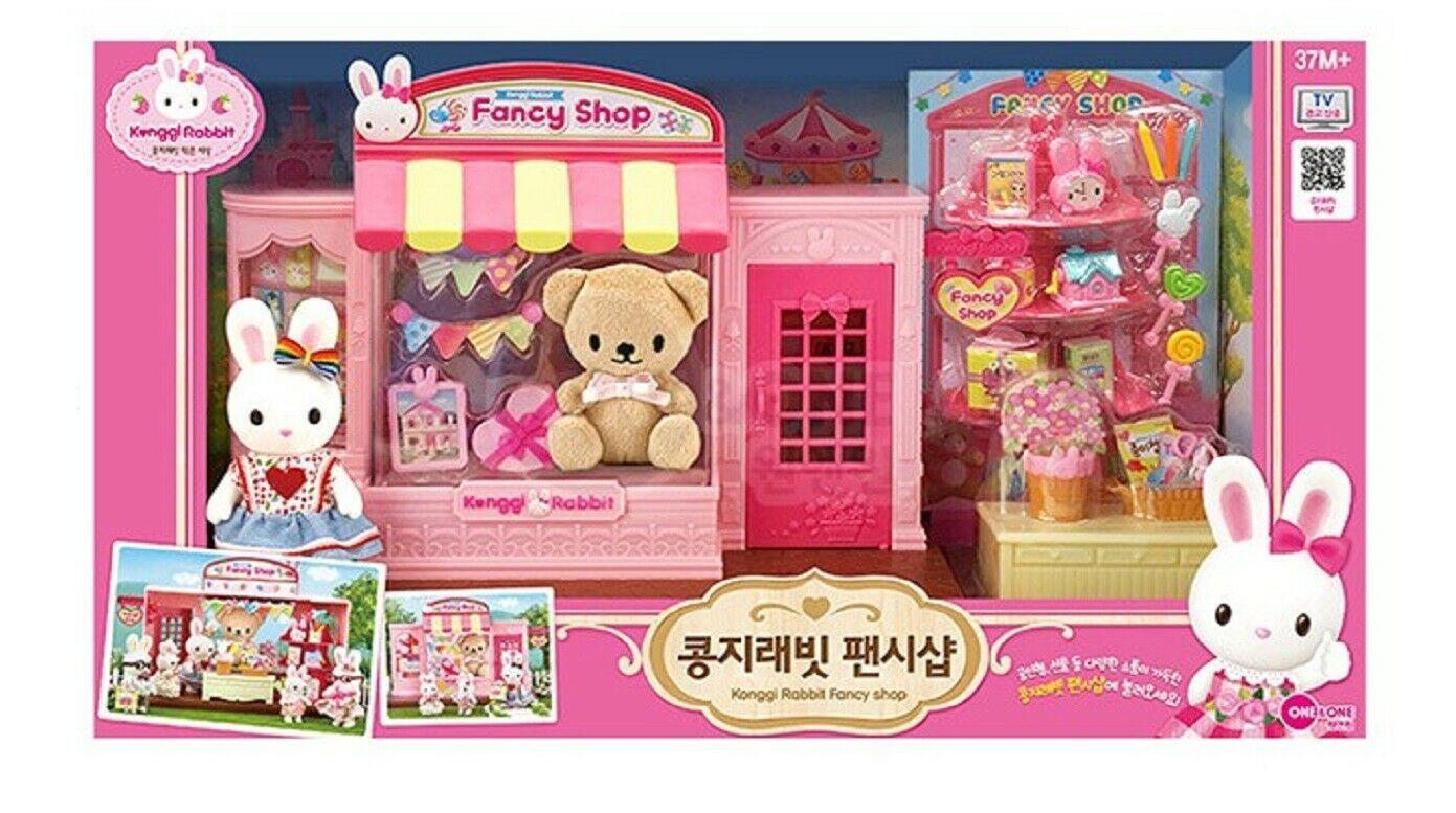 Konggi Rabbit Fancy Gift Doll Stationery Shop Store Dollhouse Roleplay Playset